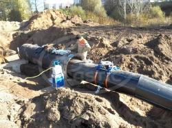 Врезка в водопровод DN 560